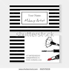 Website For Makeup Artist Makeup Artist Banner Business Card Concept Stock Vector 704253532