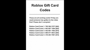 Robux Gift Card Codes - free roblox gift card codes robloxlogin