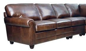 Classic Sectional Sofa Italian Leather Classic Sectional Sofa W Rolled Arms