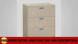 Hon 3 Drawer Lateral File Cabinet by Hon 683lp 600 Series Drawer Lateral Youtube