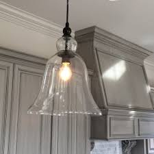 Glass Kitchen Pendant Lights Large Glass Bell Pendant Light Kitchen Inspiration Estess