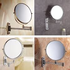 wall mounted extendable mirror bathroom 8 inch wall mounted extending folding round two side 3x 5x 7x 10x