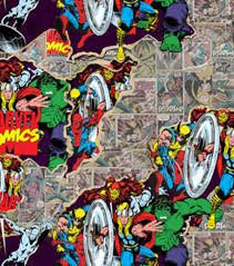 marvel wrapping paper marvel comics fabric fabric joann