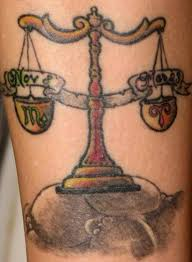 libra scale zodiac sign tattoo designs for men libra tattoos for