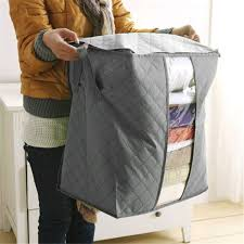favorable foldable bamboo charcoal storage bins clothes blanket