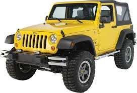 yellow jeep wrangler unlimited mopar 82209743af tubular front bumper in chrome for 07 17 jeep