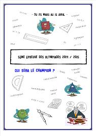 5ème épreuve de lolympiade  Maths  Collège la Mare aux Saules