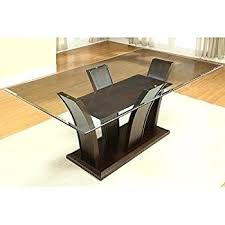 glass top tables with metal base glass rectangular dining table glass rectangle dining table amazon