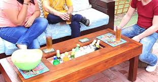 coffee table with cooler outdoor table with ice cooler box hometalk