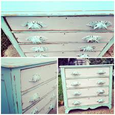 Cottage Style Furniture by Mint U0026 White Vintage Dresser Distressed Wood Shabby Chic Hand