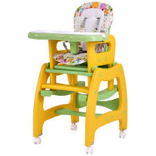 baby chair that attaches to table costway rakuten costway 3 in 1 baby high chair convertible play