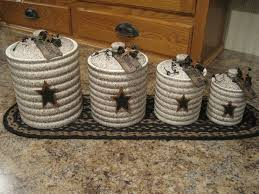 imposing modest rustic kitchen canister set rustic canisters