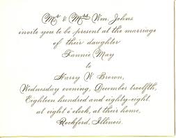 free wedding invite sles wedding invitations sles wording from and groom