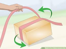 gift wrap ribbon 3 ways to tie a ribbon around a box wikihow