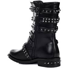 knee high motorcycle boots bomb black biker boots from spylovebuy com
