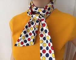 polkadot scarf etsy