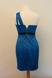 river island blue one shoulder cocktail dress 10 vinted co uk