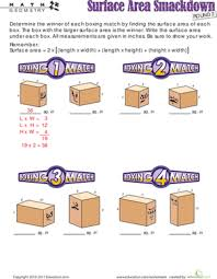 surface area practice worksheet education com