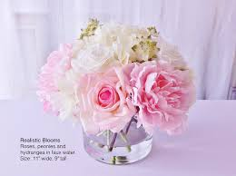 faux peonies pink silk roses by realisticblooms on zibbet