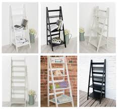 ladder book shelf bookcase stand free standing shelves storage