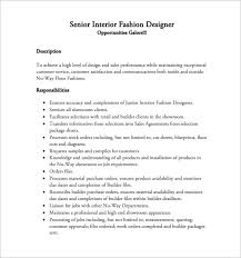 fashion designer resume template u2013 8 free word excel pdf format