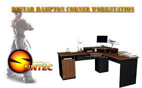 Bestar Desk Computer Desk Bestar Hampton Corner Workstation Review By Snntec