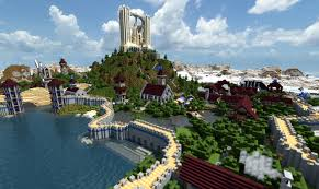 Worlds Of Fun Map by World Of Keralis Beach Town Map 1 12 2 1 11 2 For Minecraft