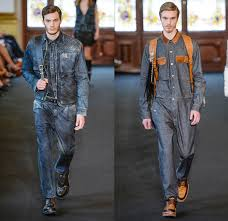 mens jumpsuit fashion ellus 2014 winter mens runway denim fashion week