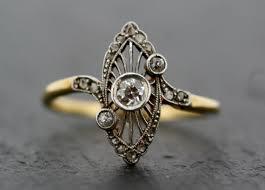 antique art deco ring vintage diamond art deco 18ct gold