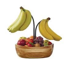 buy gourmet basics vienna fruit bowl with double banana hook