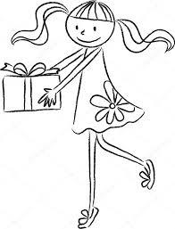 cartoon drawing happy birthday card u2014 stock photo wenpei 65837375