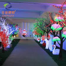 artificial flower outdoor lights light up cherry trees light