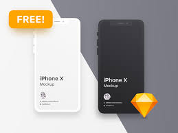 free iphone x clean mockup templates for sketch psddd co