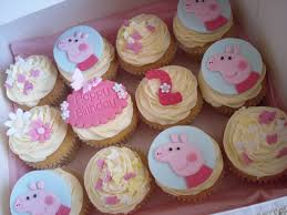 peppa pig cupcakes cupcakes peppa pig cut out gabby s 2nd birthday ideas