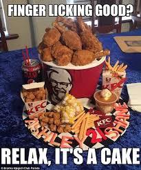 Kfc Chicken Meme - kfc chicken cake takes social media by storm daily mail online