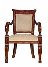 Vintage Wooden Chair Antique Wooden Chair Front View Stock Photo Colourbox