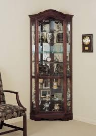 Curio Cabinets Shelves Curio Cabinet Oak Wall Curio Cabinet Curved Glass Bar Rare Photo