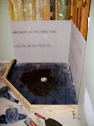 ceramic tile and fiberglass showers preparing a shower floor and