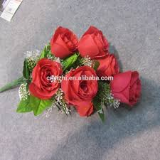 Fake Roses Mini Artificial Flower Rose Bouquet Cheap Price Rose Flowers Bunch