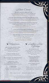 captain u0027s gala dinner menu u2022 the disney cruise line blog