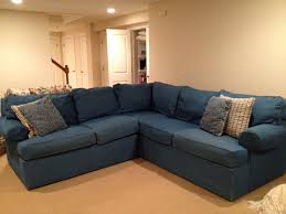 Ethan Allen Sectional Sofa With Chaise by Living Room Pottery Barn Sectional Denim Sectional Sofa