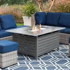 Ember Table Rectangular Gas Fire Pit Table Fire Pit Ideas