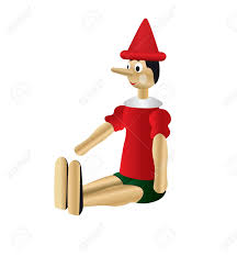 puppet pinocchio vector white background royalty free cliparts