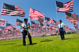 American Flag Watches Pepperdine 9 11waves Of Flags Display