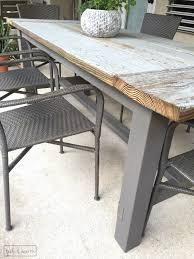 Building Outdoor Wooden Tables by Diy Farmhouse Dining Table With Reclaimed Wood Table And Hearth