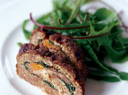 rachael ray thanksgiving meatloaf meat loaf stuffed with prosciutto and spinach recipe mario