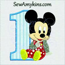 mickey mouse 1st birthday boy baby mickey mouse 1st birthday boy one applique machine