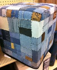 Ottoman Cubes by Denim Ottoman Cube Upcycle Reclaimed Trash To Treasure