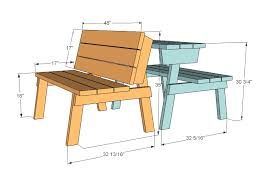 Simple Wooden Park Bench Plans by Ana White Picnic Table That Converts To Benches Diy Projects
