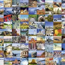 usa map jigsaw puzzle by hamilton grovely 2 1000 pc jigsaw puzzle 99 beautiful places 2 usa canada